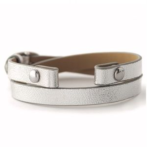 ORIGAMI OWL 🤍 Silver Leather Wrap Bracelet